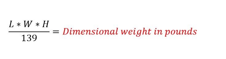Volume weight