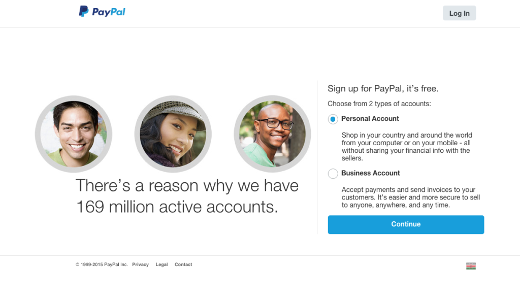 How to open paypal in Kenya