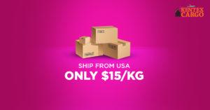 Kentex Cargo Rates $15/KG